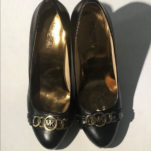 Authentic Michael Kors black leather high heel